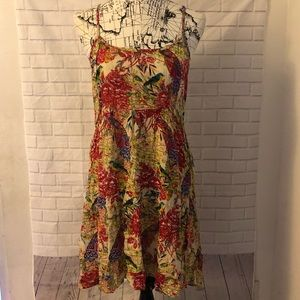 Anthropologie Raga mini dress red floral low back